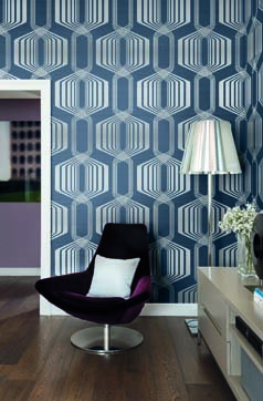 Hexagon Stripe Mod Geo Wallpaper